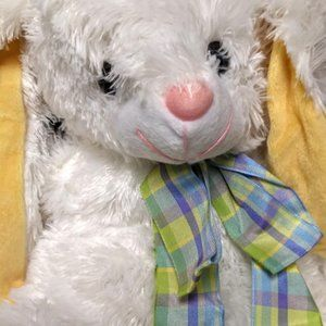 CUDDLE BUNNY EASTER PLUSH 18″ RABBIT WHITE STUFFED